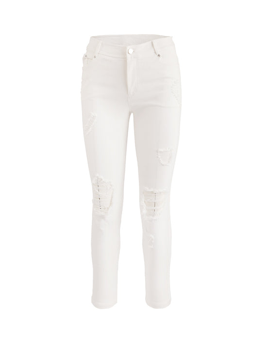 MARK FAST WOMEN STRAIGHT CUT RIPPED JEANS