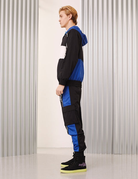 MARK FAST Men Contrast Color Logo Printed Sport Jogger Pants