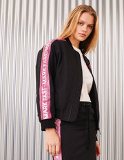MARK FAST Women MF Passion Flamingo Zip Up Baseball Jacket
