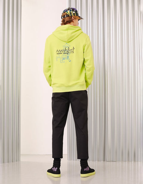 MARK FAST Men MF Logo Embroidery Hoodie Sweatshirt