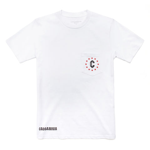 Harley Pocket Tee White