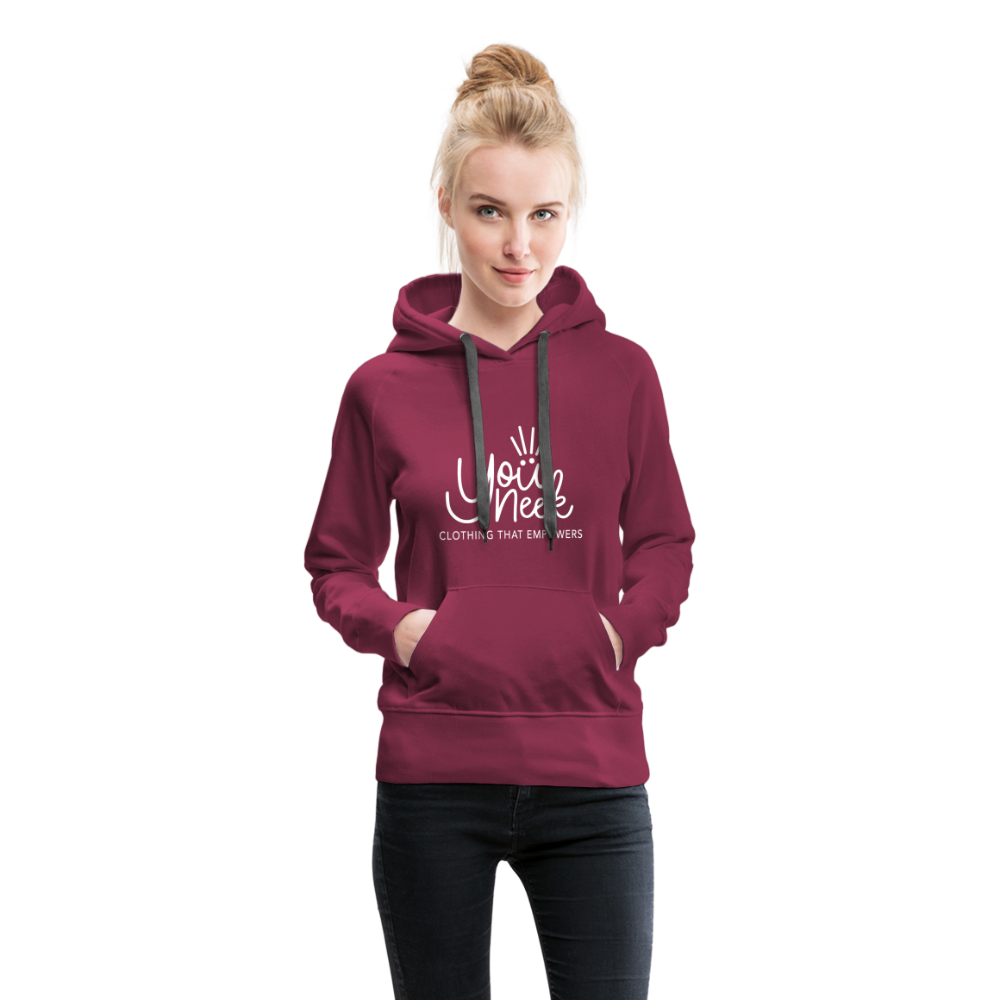 YouNeek Clothing Women's Premium Hoodie - burgundy