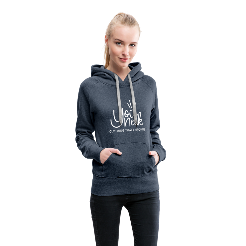 YouNeek Clothing Women's Premium Hoodie - heather denim
