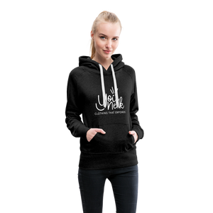 YouNeek Clothing Women's Premium Hoodie - charcoal gray