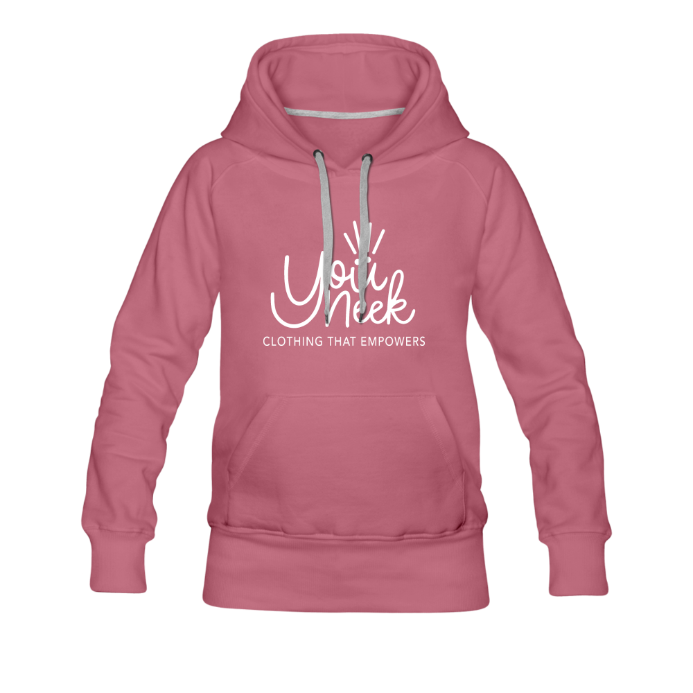 YouNeek Clothing Women's Premium Hoodie - mauve