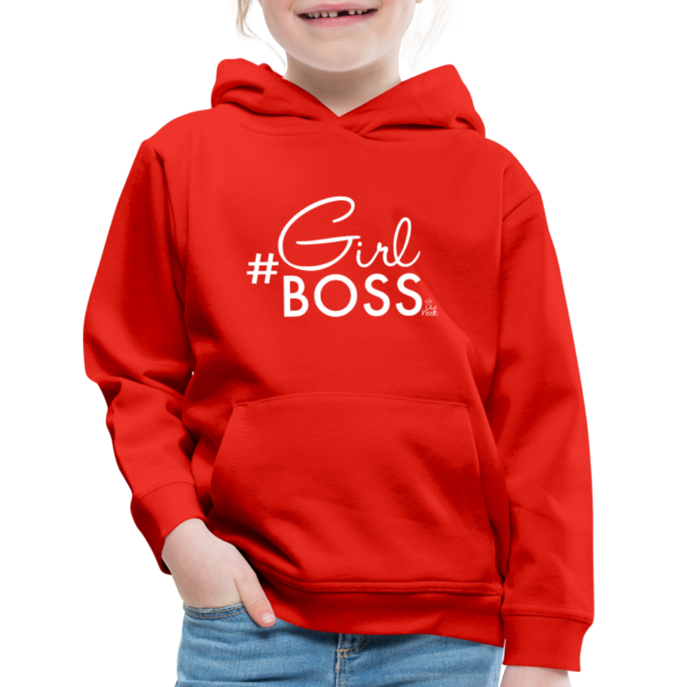 #Girl Boss Kids' Premium Hoodie - red