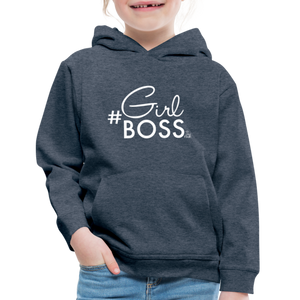 #Girl Boss Kids' Premium Hoodie - heather denim