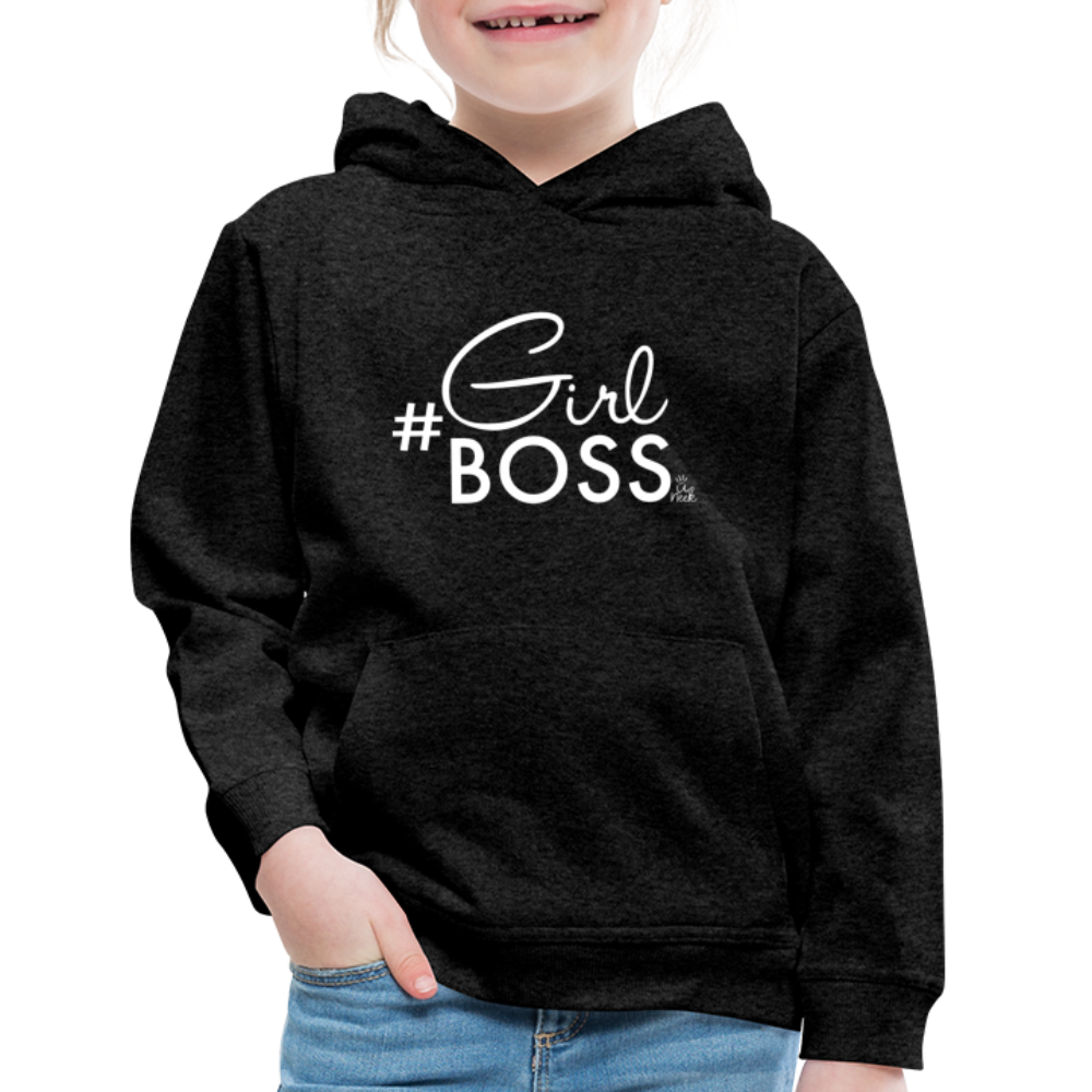 #Girl Boss Kids' Premium Hoodie - charcoal gray