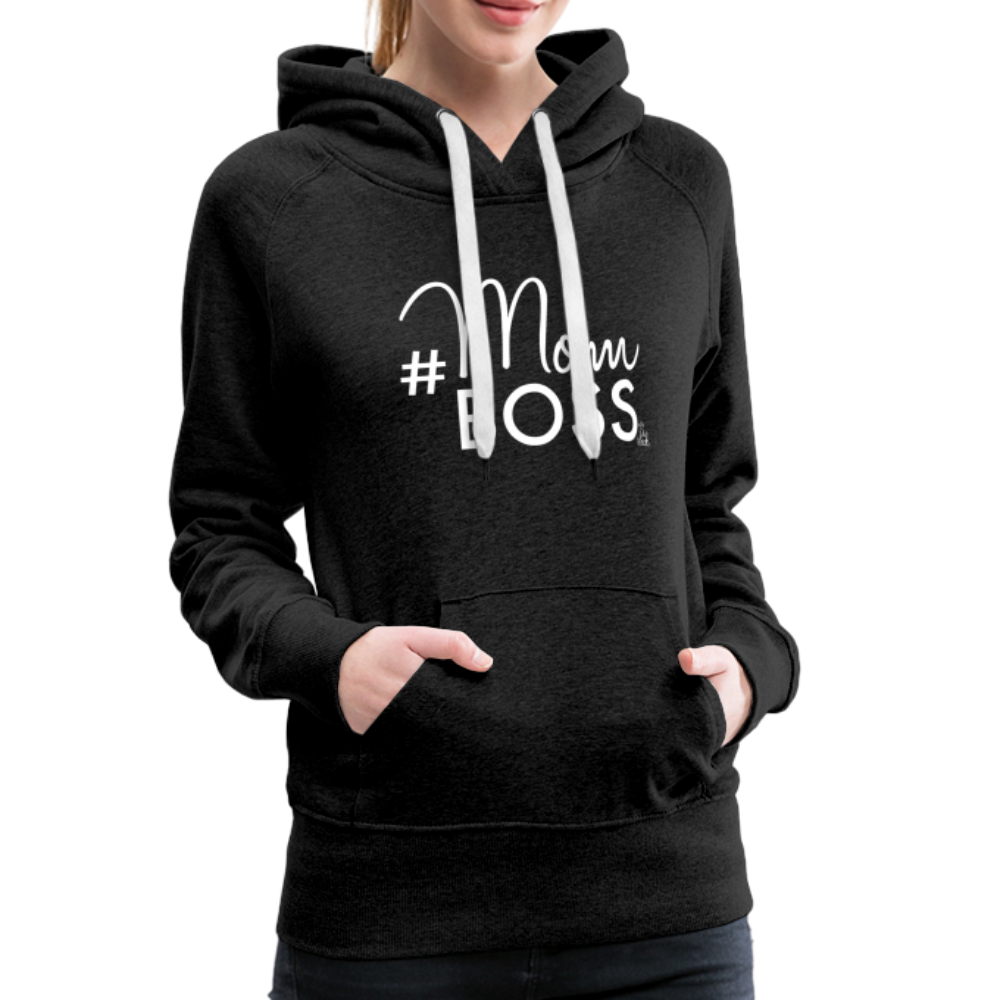 #MomBoss Women's Premium Hoodie - charcoal gray