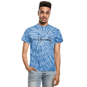 #BeYourself Unisex Tie Dye T-Shirt - spider baby blue