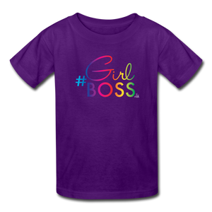 #GirlBoss Kids' T-Shirt - purple