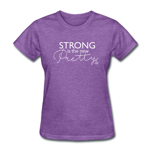 Strong is the New Pretty Women's T-Shirt - purple heather