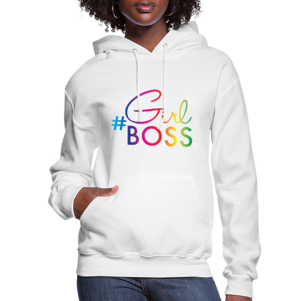 #Girl Boss Women's Hoodie - white