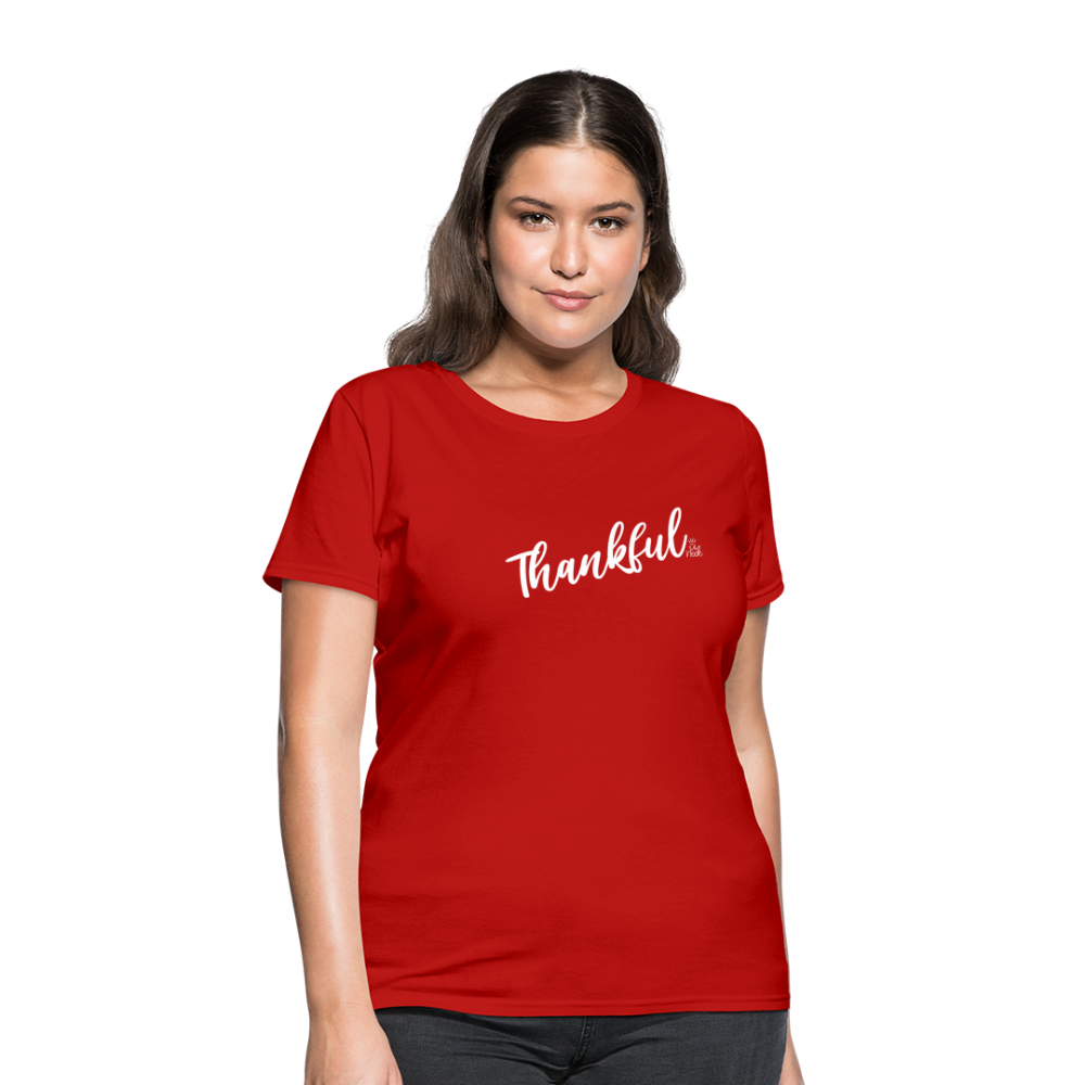 Thankful Women's T-Shirt - red