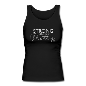 Strong is the new Pretty Women's Fitted Tank - black