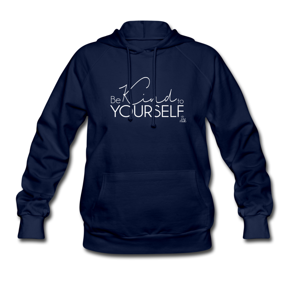 Be Kind to Yourself Women's Hoodie - navy