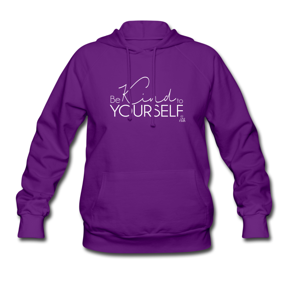 Be Kind to Yourself Women's Hoodie - purple
