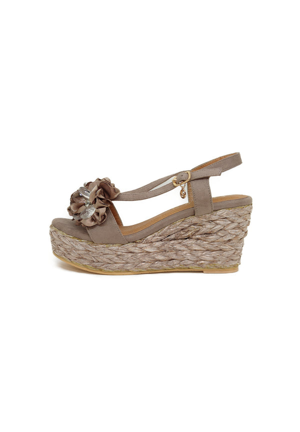 GS189 TAUPE - Zeppa donna