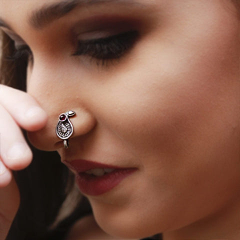 silver nose pin online