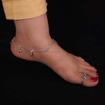 Charms Anklet-Zilver Craft - An Unique Silver Jewellery Online Store