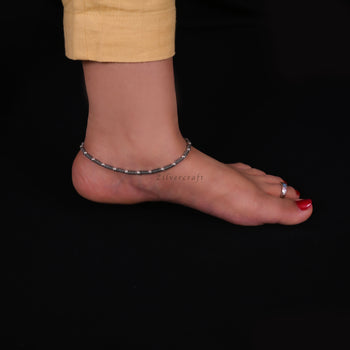 Single Anklet-Zilver Craft - An Unique Silver Jewellery Online Store