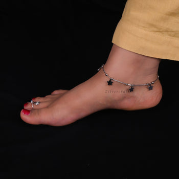 Star Anklet-Zilver Craft - An Unique Silver Jewellery Online Store