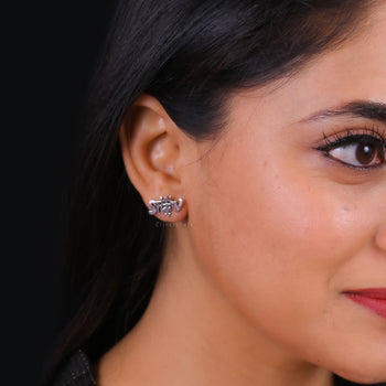 Shiv Earrings-Zilver Craft - An Unique Silver Jewellery Online Store
