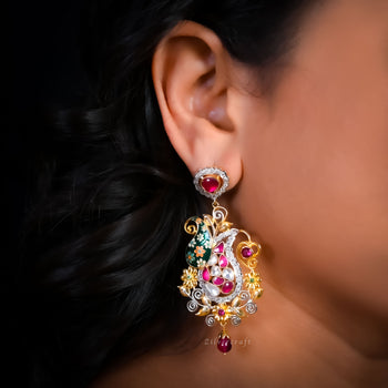Festive Meenakari Earrings