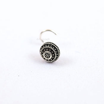 Tribal Nose Pin-Zilver Craft - An Unique Silver Jewellery Online Store