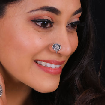 Om Nose Pin-Zilver Craft - An Unique Silver Jewellery Online Store