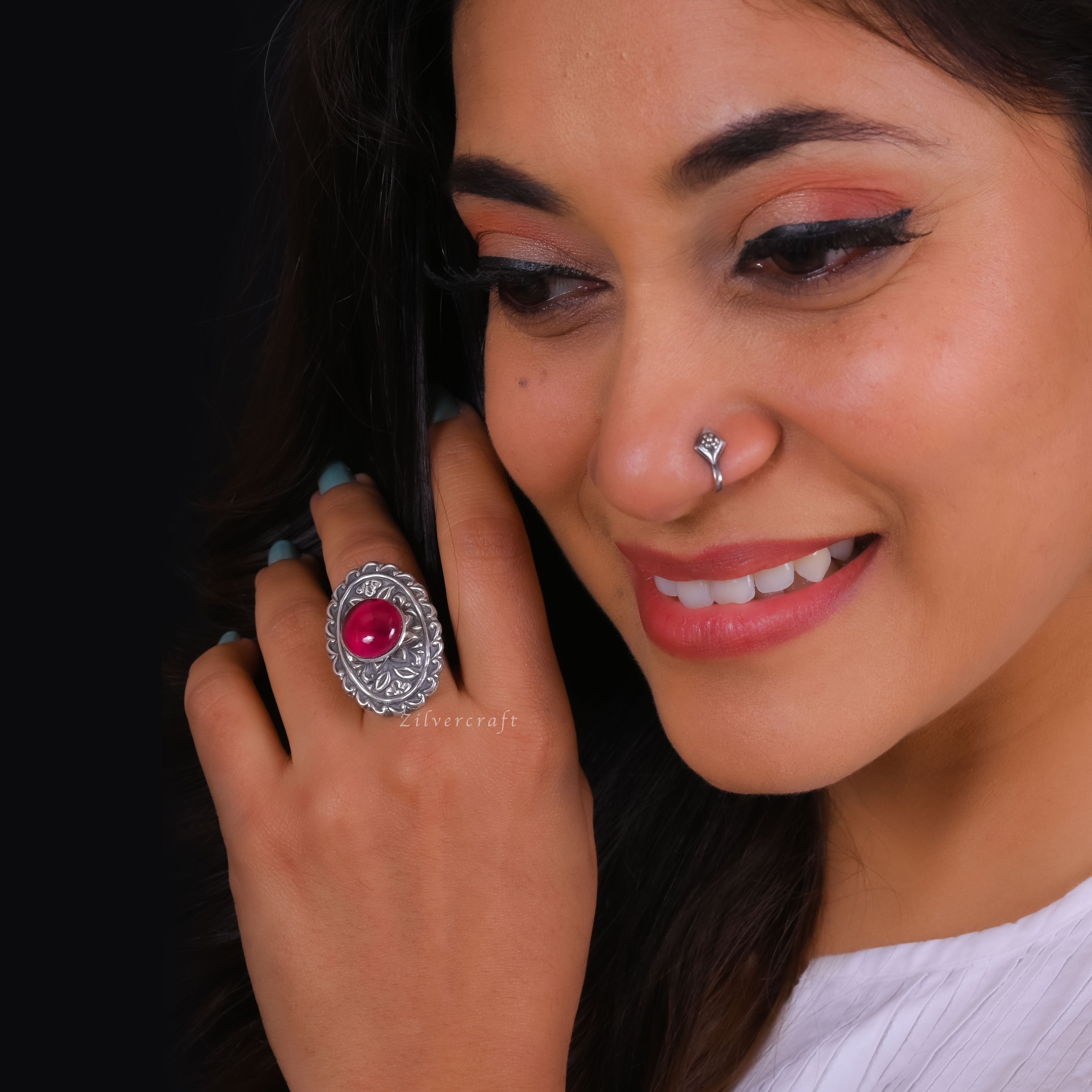 silver Jewellery online - Aaina Ring