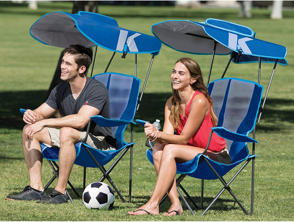 Kelsyus Original Canopy Chair - Foldable Chair for Camping, Tailgates, and Outdoor Events , Blue, 37