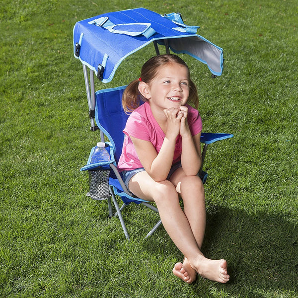 Kelsyus Kids Outdoor Canopy Chair - Foldable Children's Chair for Camping,