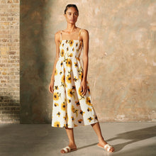 Load image into Gallery viewer, Sunflower Strappy Midi Dress