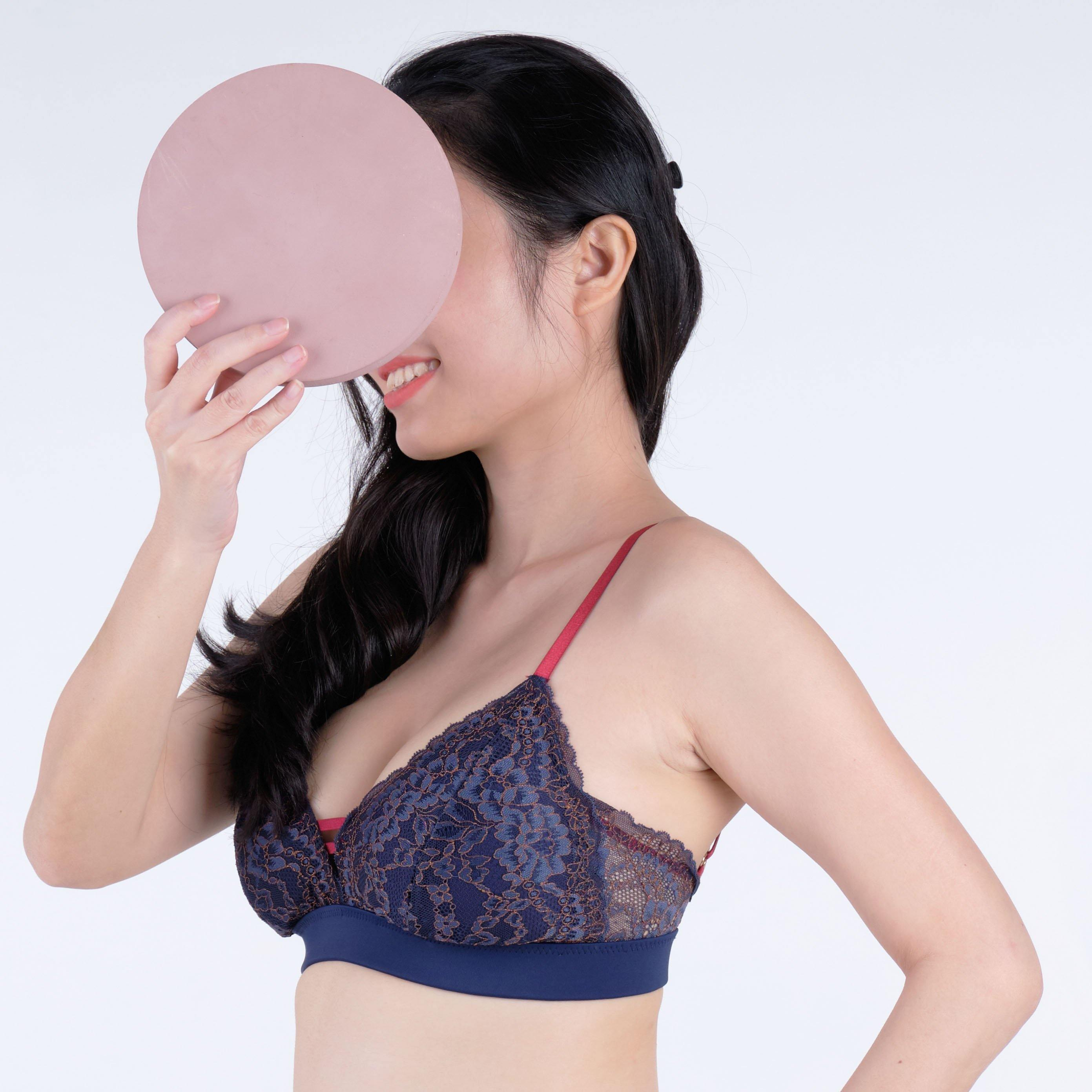the sweet kisses padded nursing bralette in tenacity