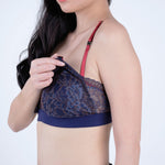 Load image into Gallery viewer, the sweet kisses padded nursing bralette in tenacity