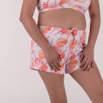 Load image into Gallery viewer, the sleep well shorts in fruitful print lilac
