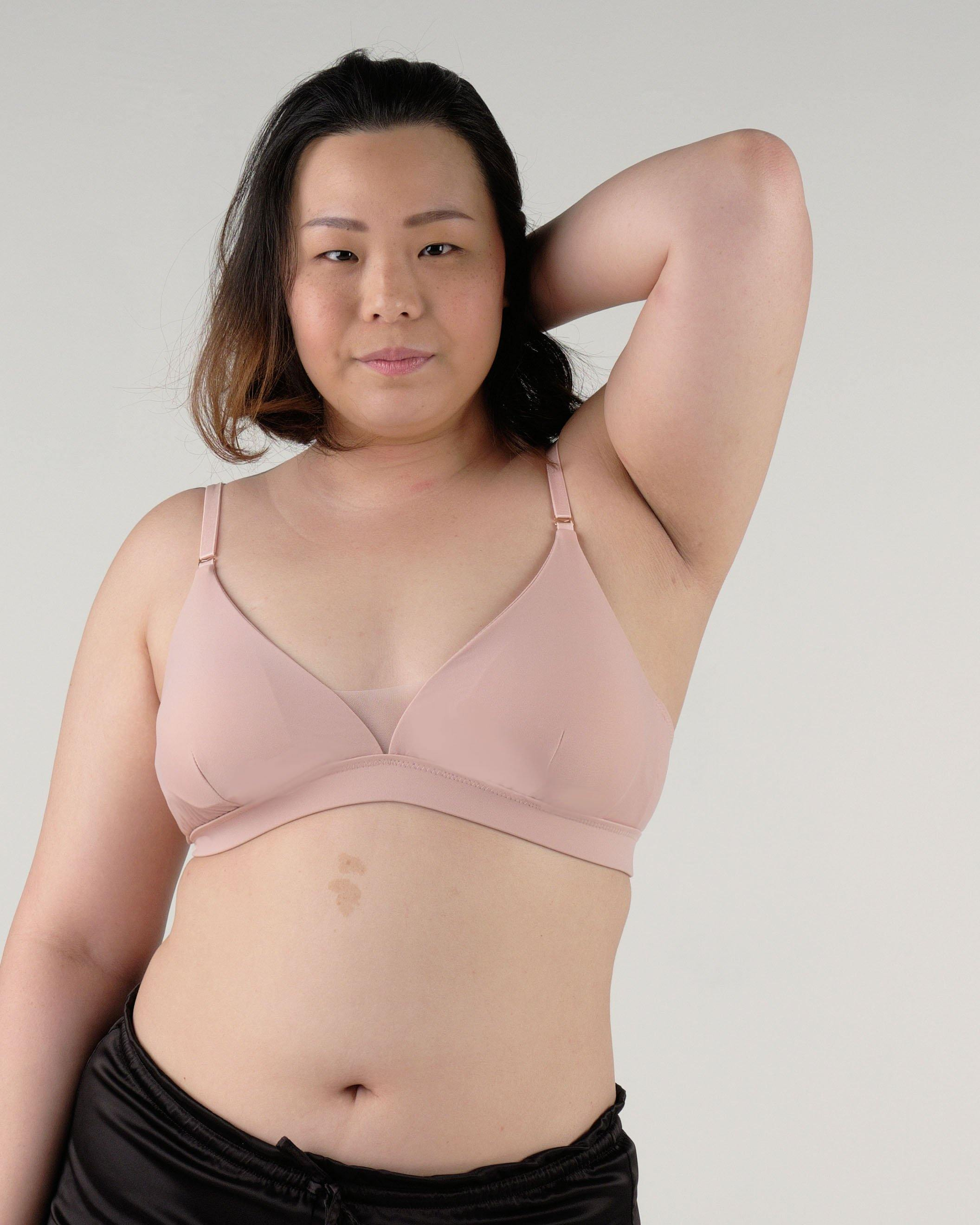 the roll with it padded active bralette in pink