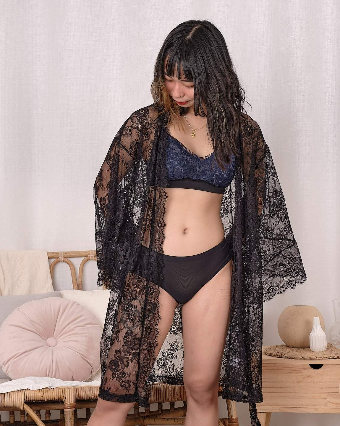 belle lace robe