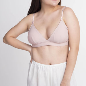 the best bet padded nursing bralette in pink