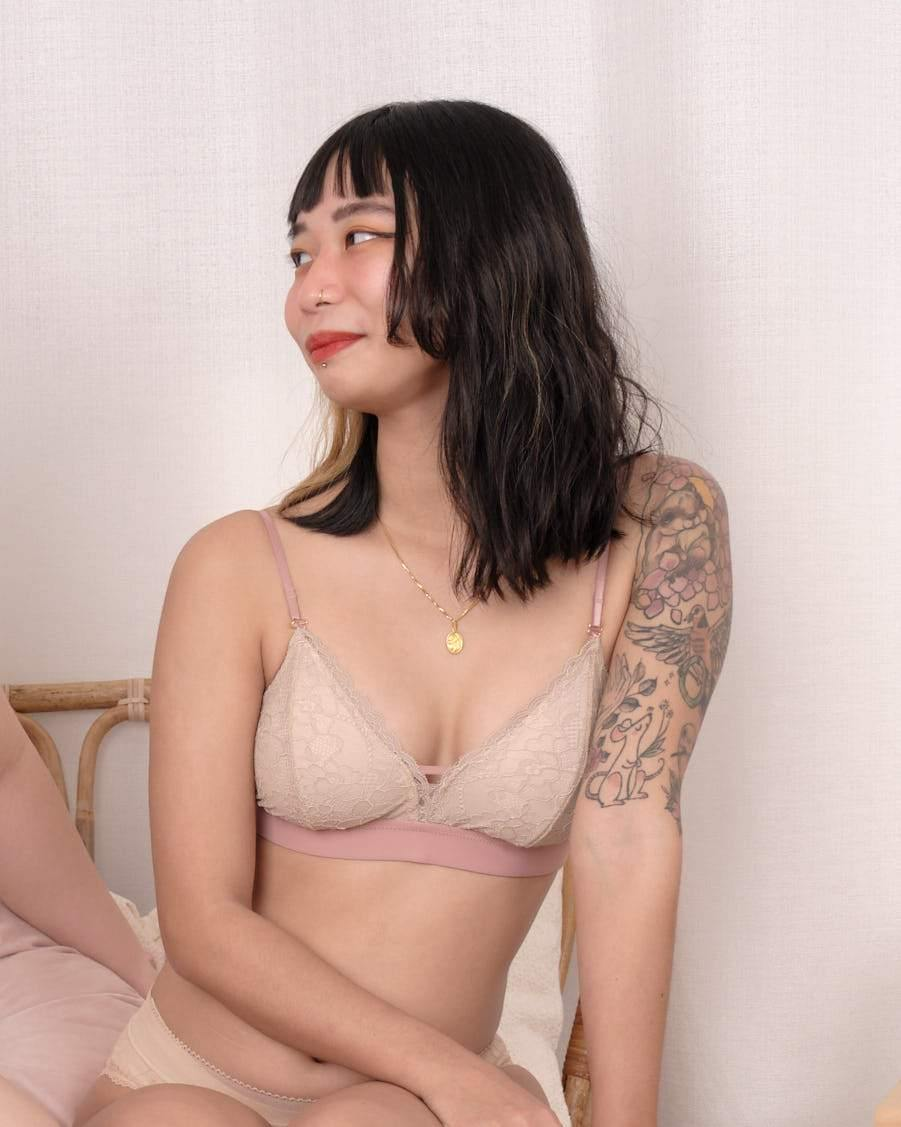 sweet kisses padded bralette in butternut