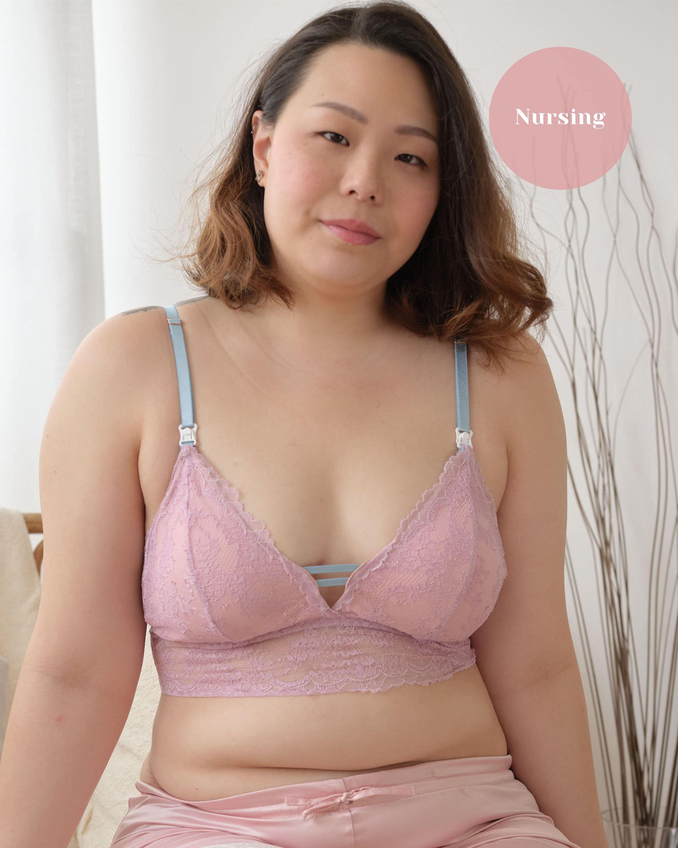 nursing - best wishes padded midi bralette in new me
