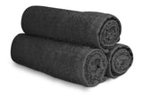 "16 x 27"" Charcoal Grey 100% Cotton Premium Salon Towel"
