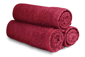 "16 x 27"" Burgundy 100% Cotton Premium Towel"