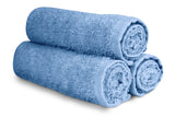 "16 x 27"" Light Blue 100% Cotton Premium Salon Towel"