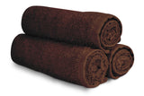 "16 x 27"" Brown 100% Cotton Premium Salon Towel"