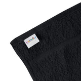 "15x25"" Black 100% Cotton Economy Towel"