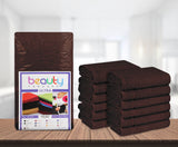 "16 x 27"" Brown 100% Cotton ULTRA Salon Towel"