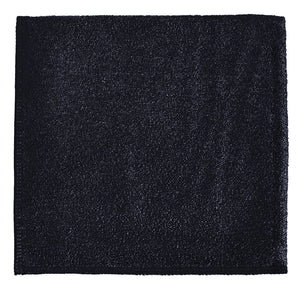"12 x 12"" Black Heavy Duty Microfiber Towel (24 Pack)"