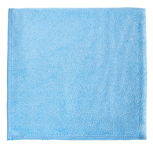 "12 x 12"" Blue Heavy Duty Microfiber Towel (24 Pack)"